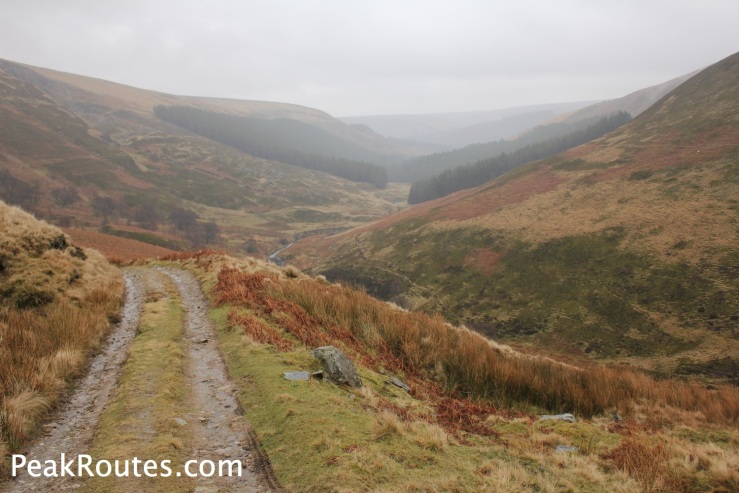 Looking back down the valley towards Howden