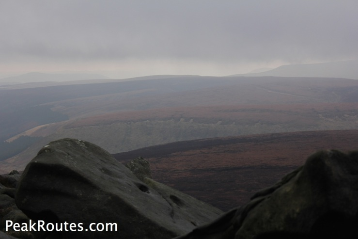 Win Hill and Kinder Scout from Grinah Stones
