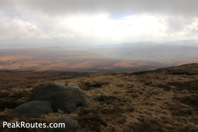 Looking down the River Westend from Bleaklow Stones