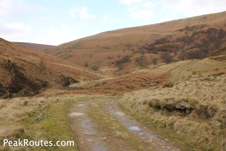 Looking back towards the route up Ridgewalk Moor