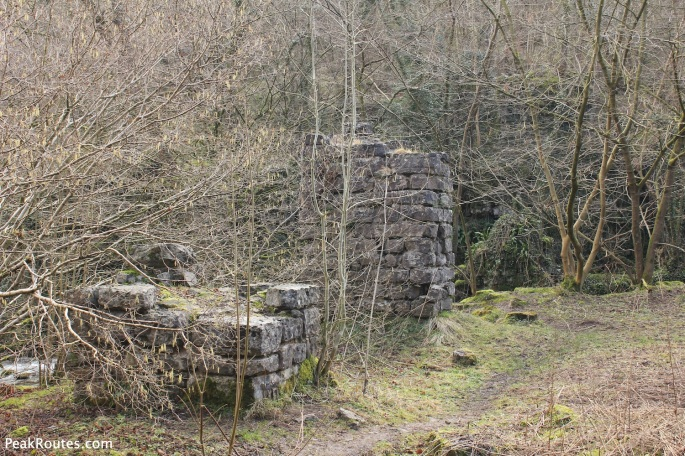 The remains of the aqueduct in Lathkill Dale.