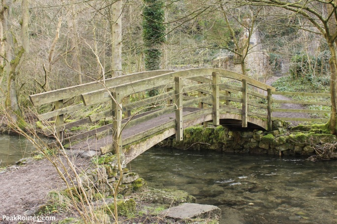 Bridge of the river in Lathkill Dale