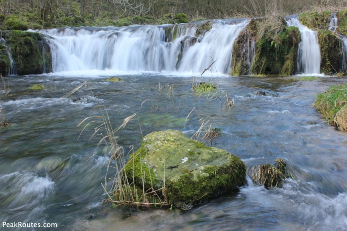 Waterfalls in Lathkill Dale