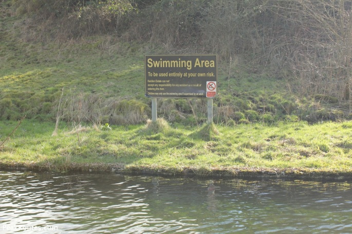 Designated Swimming Area in Bradford Dale