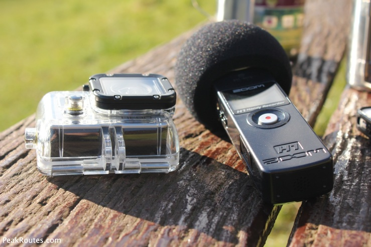 Recording media with my GoPro Hero 3 Silver Edition and my Zoom H1