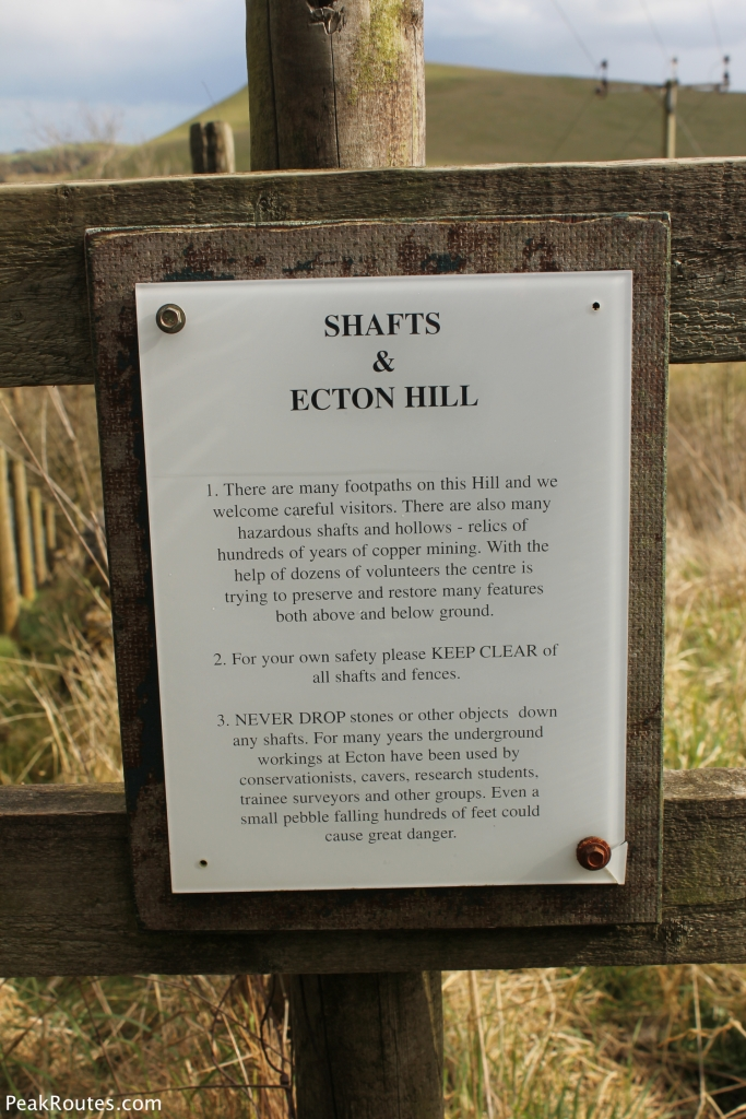 Ecton Hill Mine Shaft Warning Sign