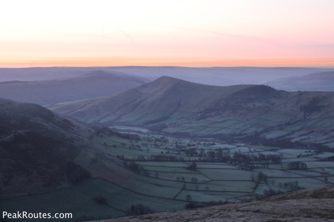 Early morning light in the Vale of Edale just before sunrise