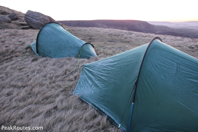 A touch of frost on the western side of the tents
