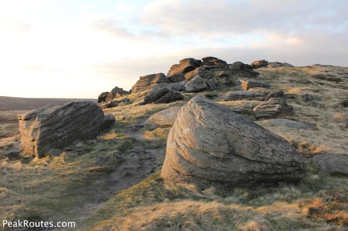 Gritstone rocks on Grindslow Knoll
