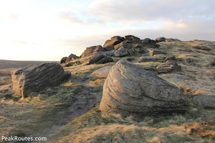 Gritstone rocks on Grindslow Knoll