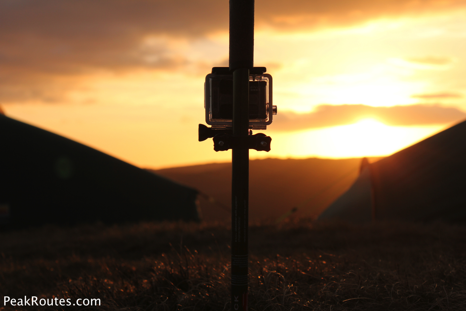 The GoPro Hero 3 shooting a sunset Time Lapse