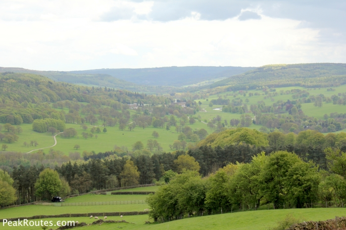 Looking down to Chatsworth in the Derwent Valley