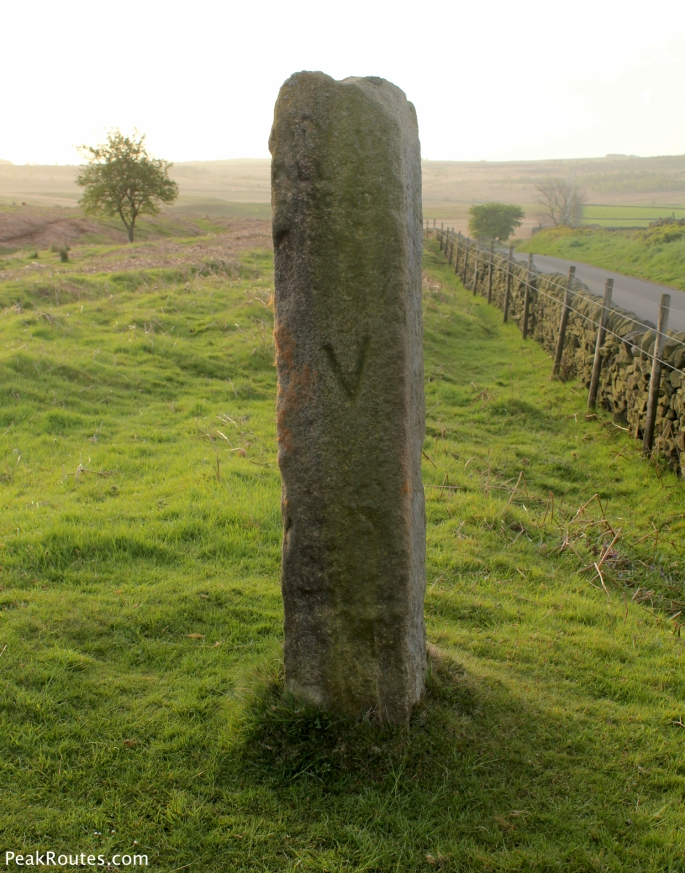 Stone Marker Post at Curbar Gap