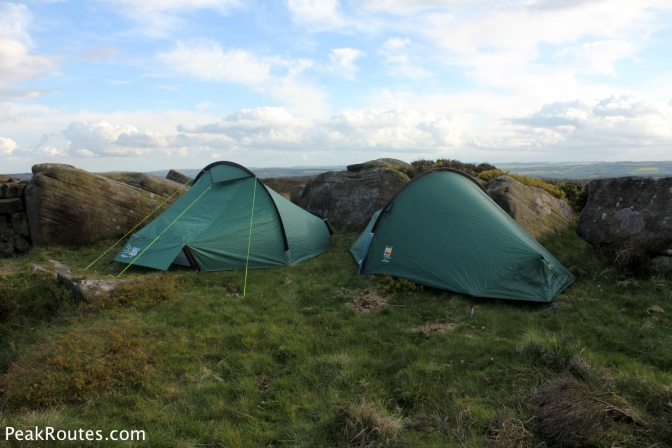 Discreetly pitched up on White Edge