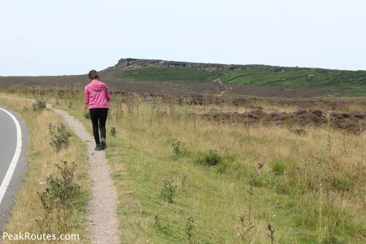 Amy on route to Stanage Edge