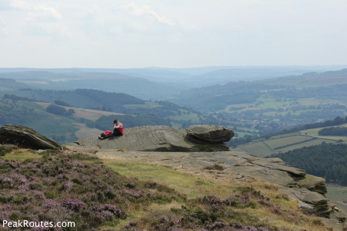Lunch break at High Neb on Stanage Edge
