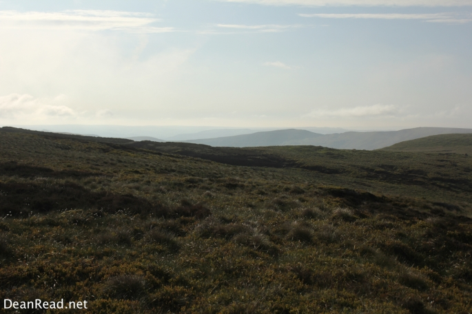 Looking south towards Brown Knoll and Lord's Seat from Kinder Low