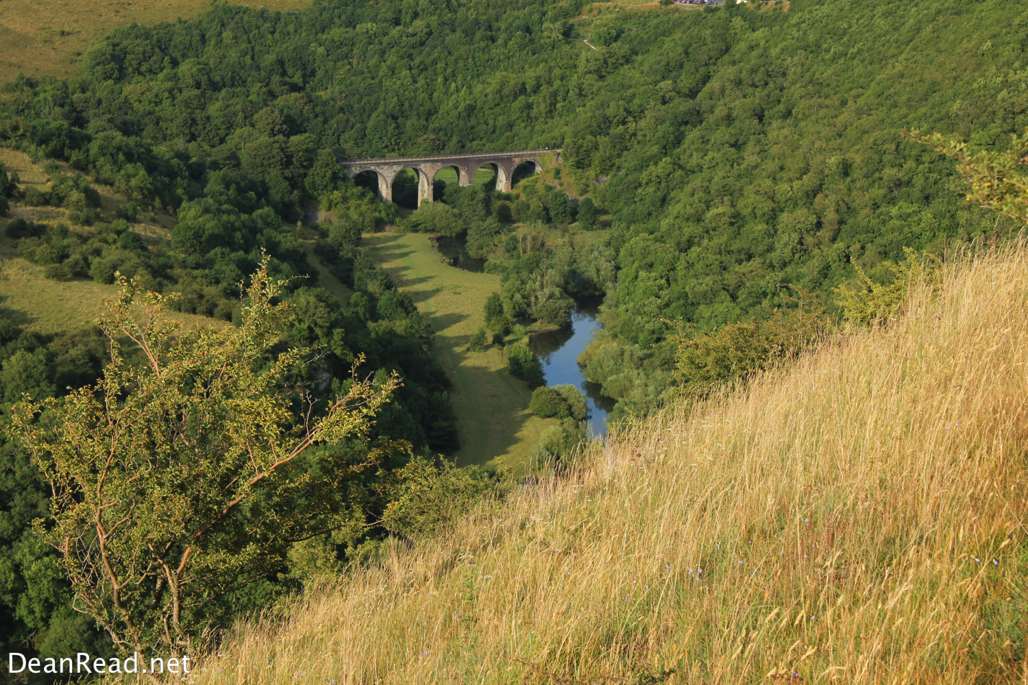 The view down to the Headstone Viaduct from Fin Cop